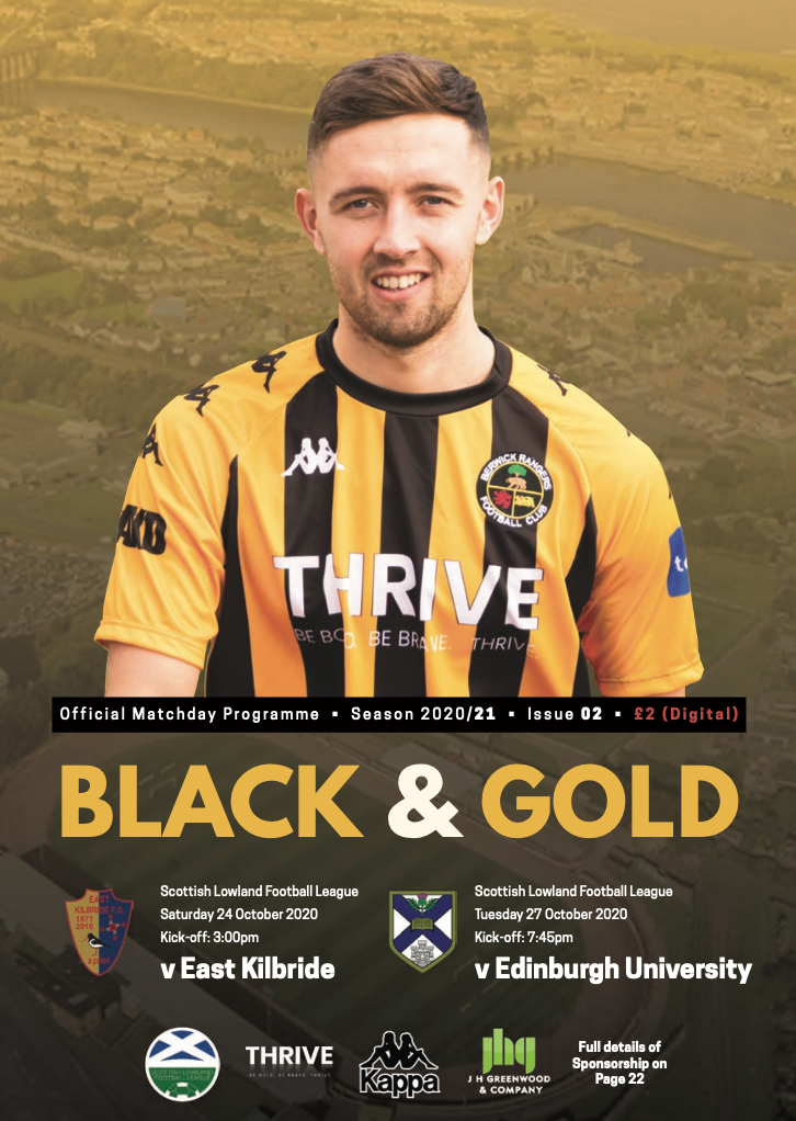 Digital Match Programme: East Kilbride (24th October 2020) & Edinburgh Uni (27th October 2020)