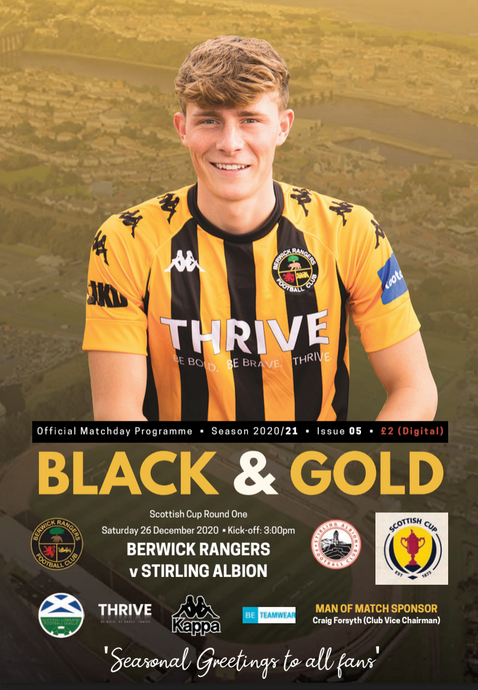 Digital Match Programme: Stirling Albion (H) - 26th December 2020