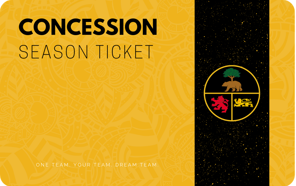 Concession Season Ticket: 2020/21