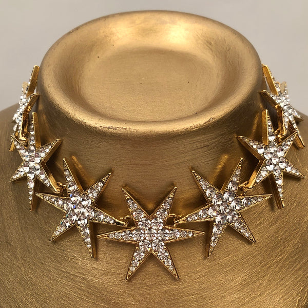 STAR CRYSTAL GOLD CHOKER