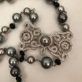 CHARM BEAD SILVER NECKLACE
