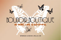 BOUDOIR BOUTIQUE LUXURY PAPER AND RIBBON GIFT BAG