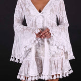 PURE WHITE COTTON LACED DRESS