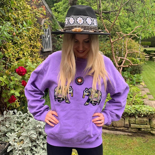 ELEPHANT KUCHI SWEATER PURPLE
