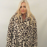 FAUX FUR LEOPARD COAT