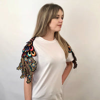 PSYCHEDELIC WHITE PEACOCK T-SHIRT
