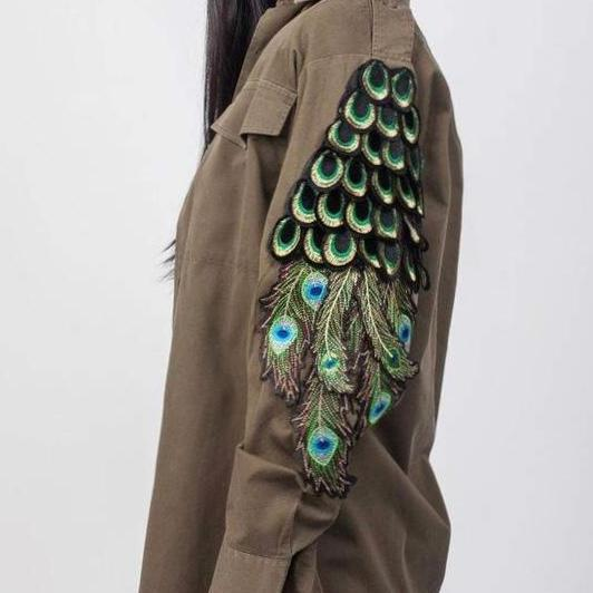 PEACOCK MILITARY KARKI SHIRT
