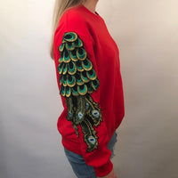 PEACOCK RED SWEATSHIRT