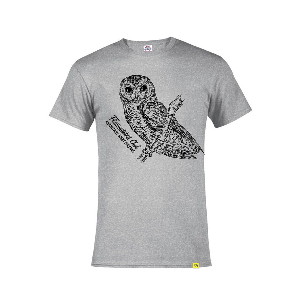 Flammulated Owl Tee (gray)