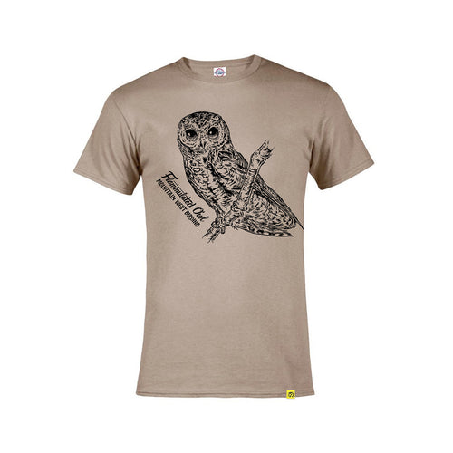 Flammulated Owl Tee (sand)