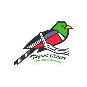 Elegant Trogon - Cave Creek Sticker