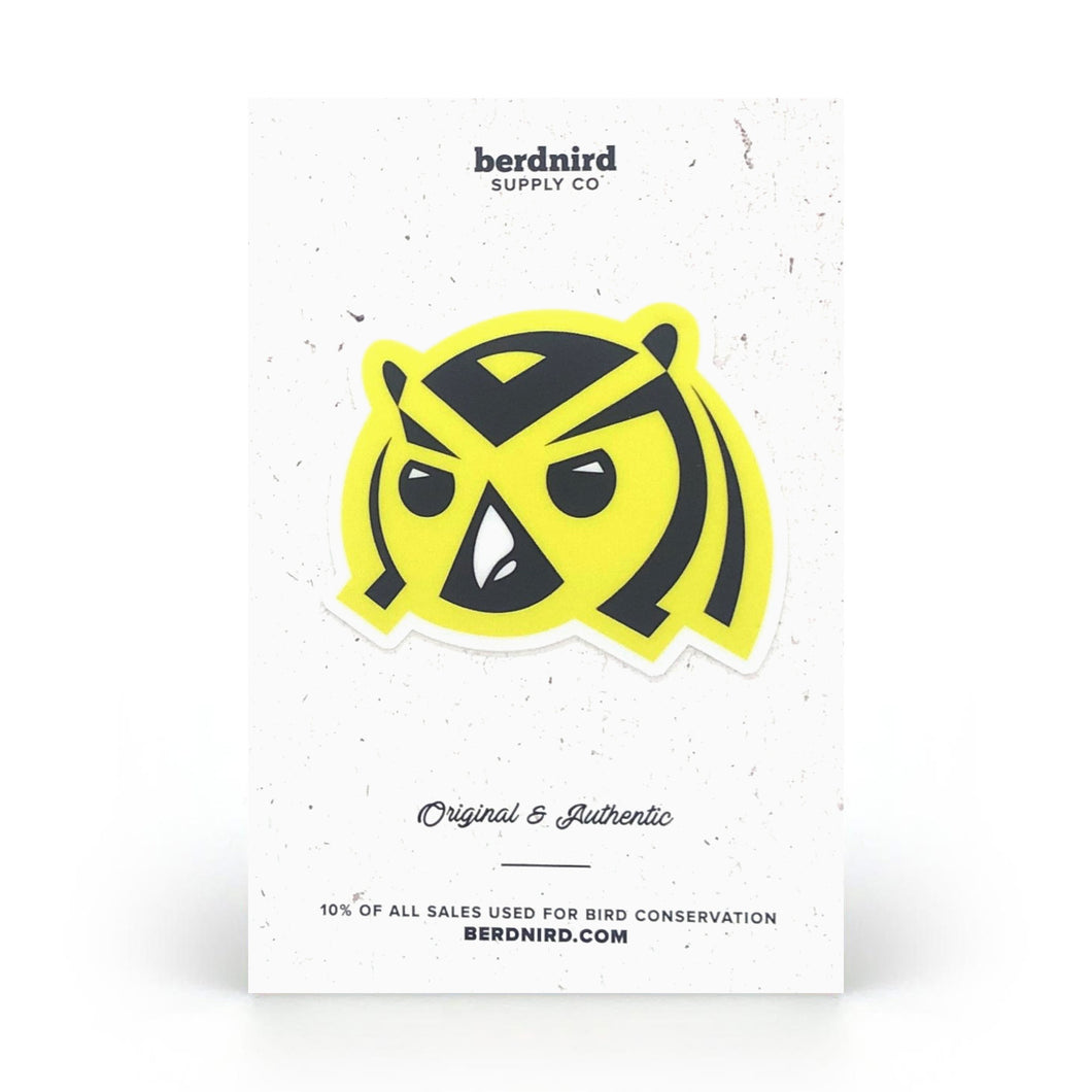Yellow Flammy Sticker