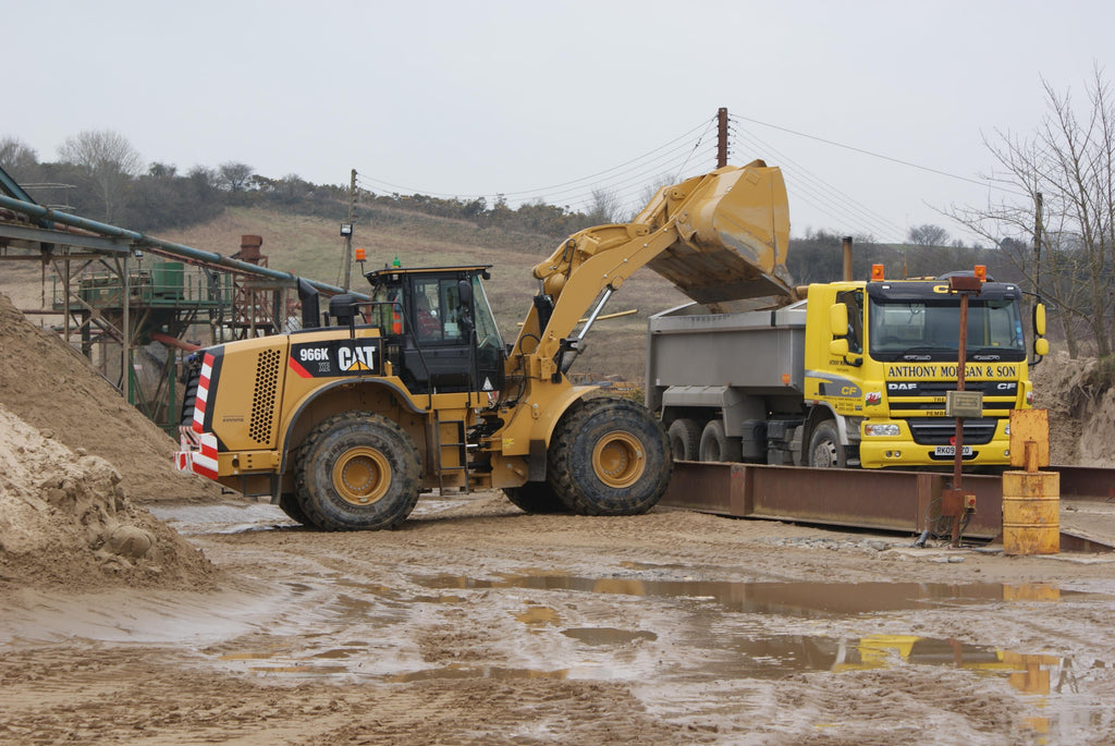 a photo of our lovely loader in action