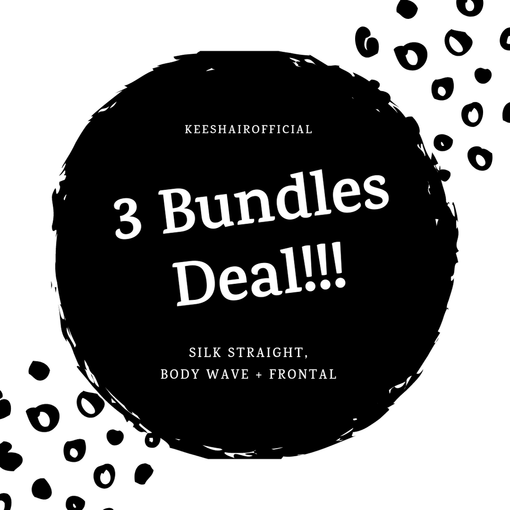 3 Bundles Deal + Frontal (Silk Straight & Body Wave)