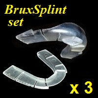 "<i><b>BruxSplint</b></i>; 3 sets (""B-Splints""), 6 total pieces"