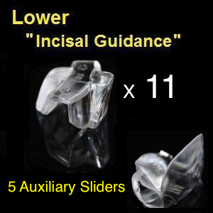 "Lower ""Incisal Guidance"" devices + Auxiliary Sliders"