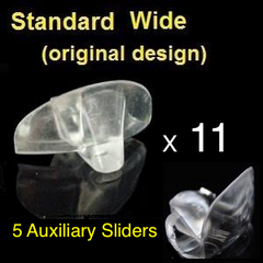 Standard Wide NTI devices + Auxiliary Sliders