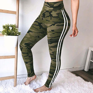 Open image in slideshow, High Waist Pantalon Camouflage Leggings - TRINQUETZ
