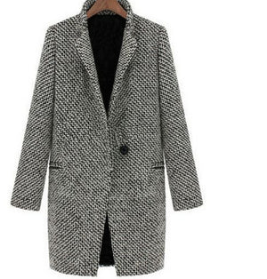 Open image in slideshow, Elegant Warm Mid-Long Section Coat - TRINQUETZ