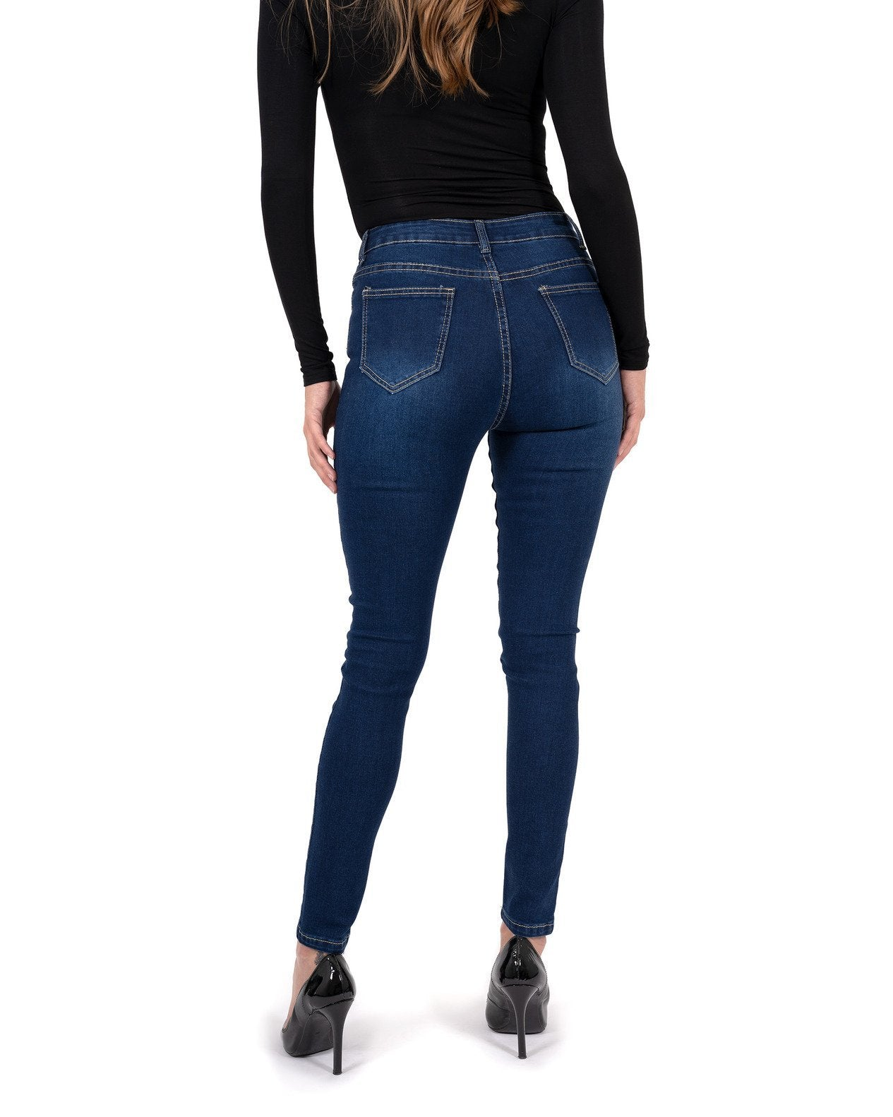 Alexis High Waisted Skinny Jeans - TRINQUETZ