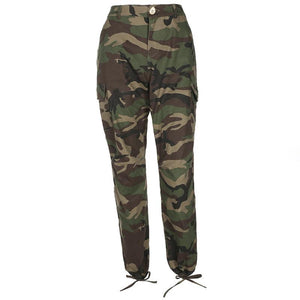 Army Green Camouflage Harlan Tooling Woven Pants - TRINQUETZ