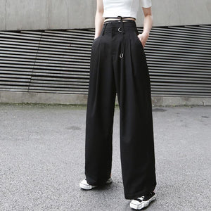 Mariya High Waist Long Wide Leg Pants - TRINQUETZ