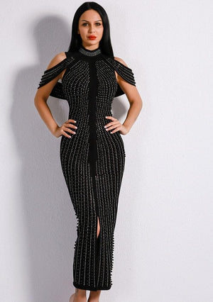 Mid Calf Studded Dress - TRINQUETZ