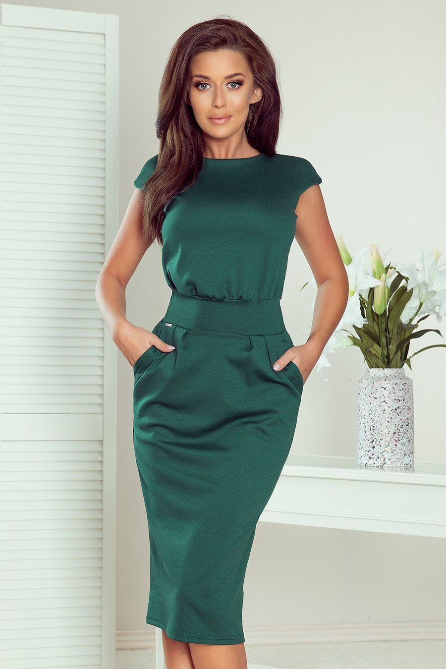 Numoco 144-8 Dress midi SARA - green color - TRINQUETZ