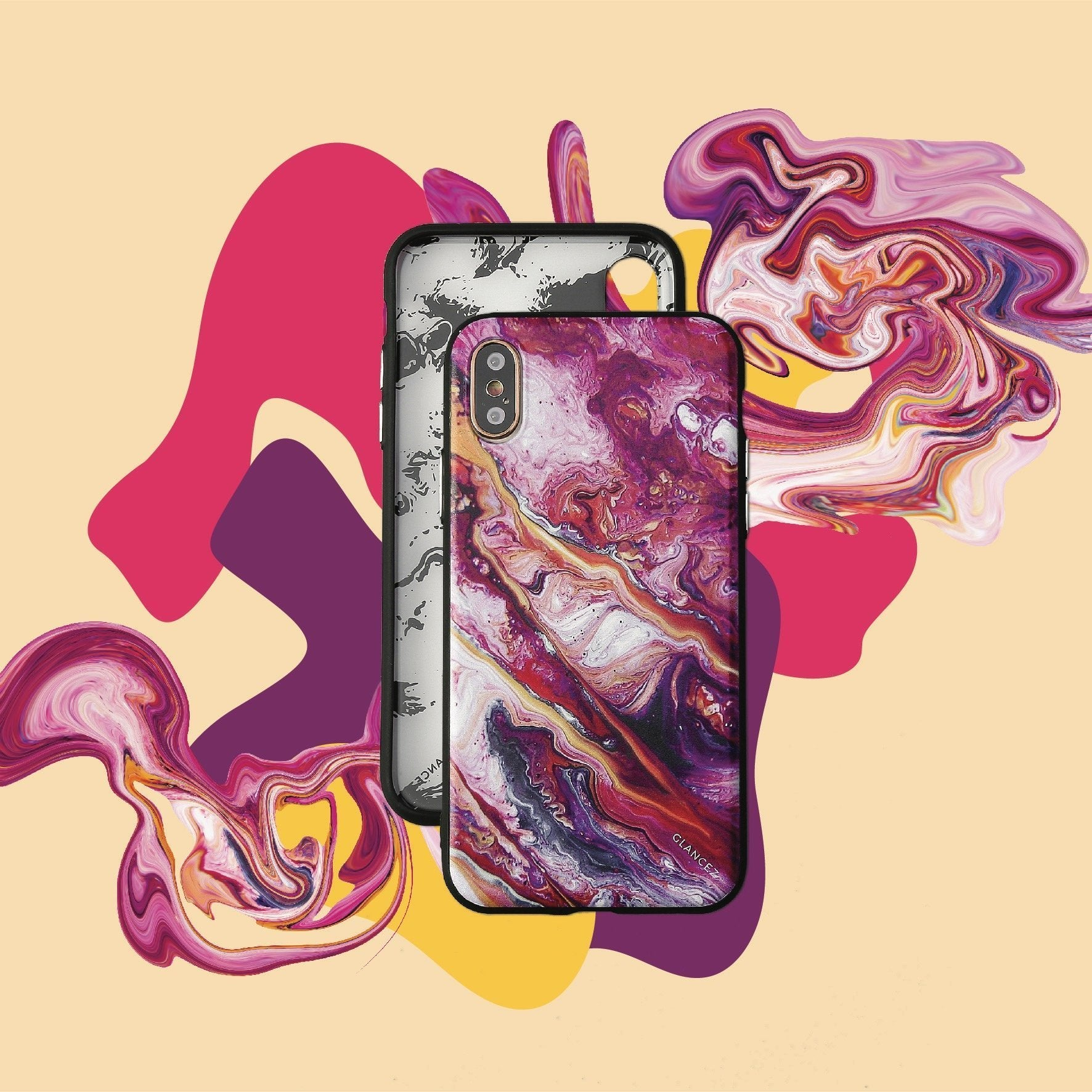 Original Pink Fluid Art iPhone Case - TRINQUETZ