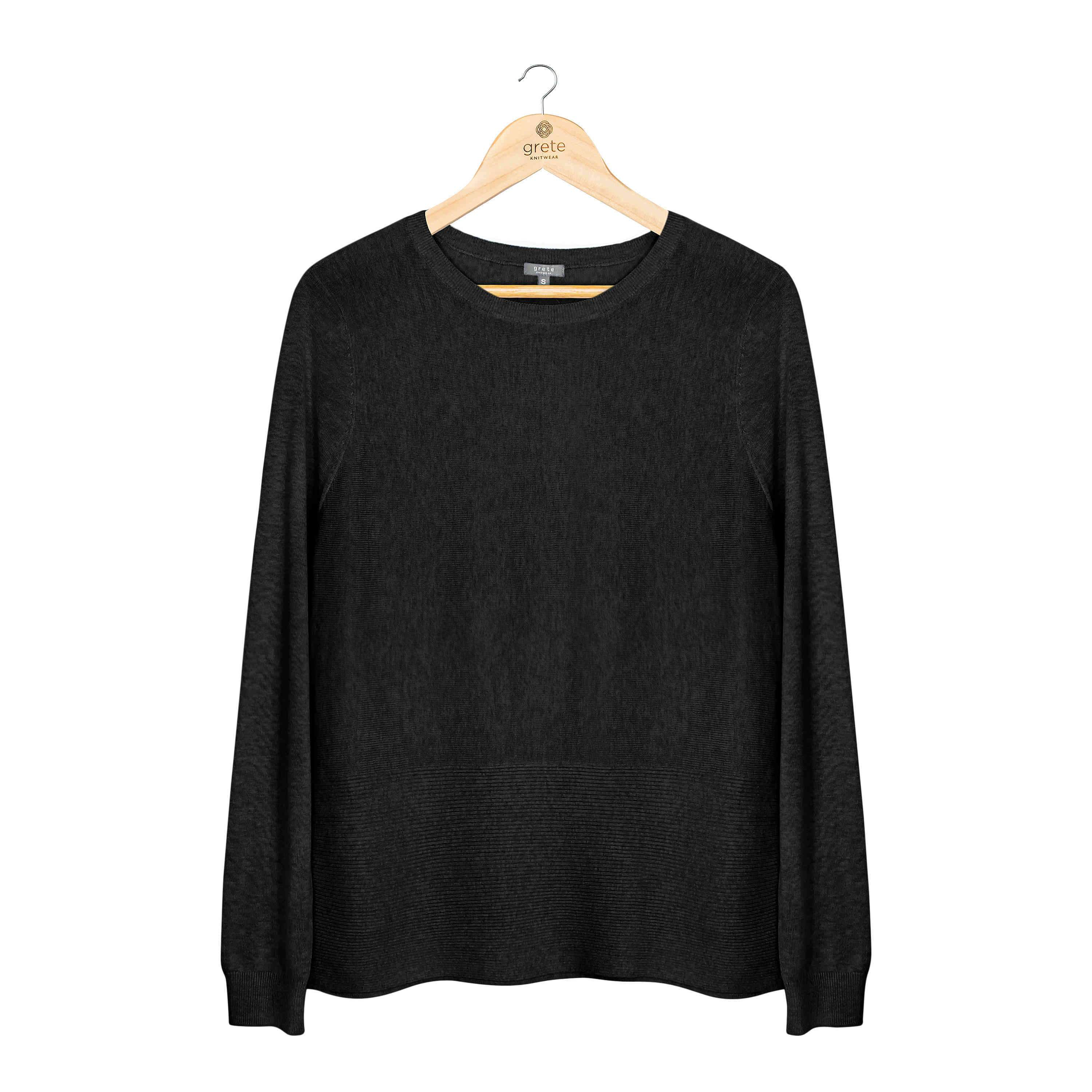 Ribbed Crew Neck Sweater - TRINQUETZ