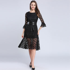 Open image in slideshow, Street Chic Flare Sleeve Mermaid Dress - TRINQUETZ