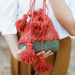 Tori Jute Watermelon Bag - TRINQUETZ