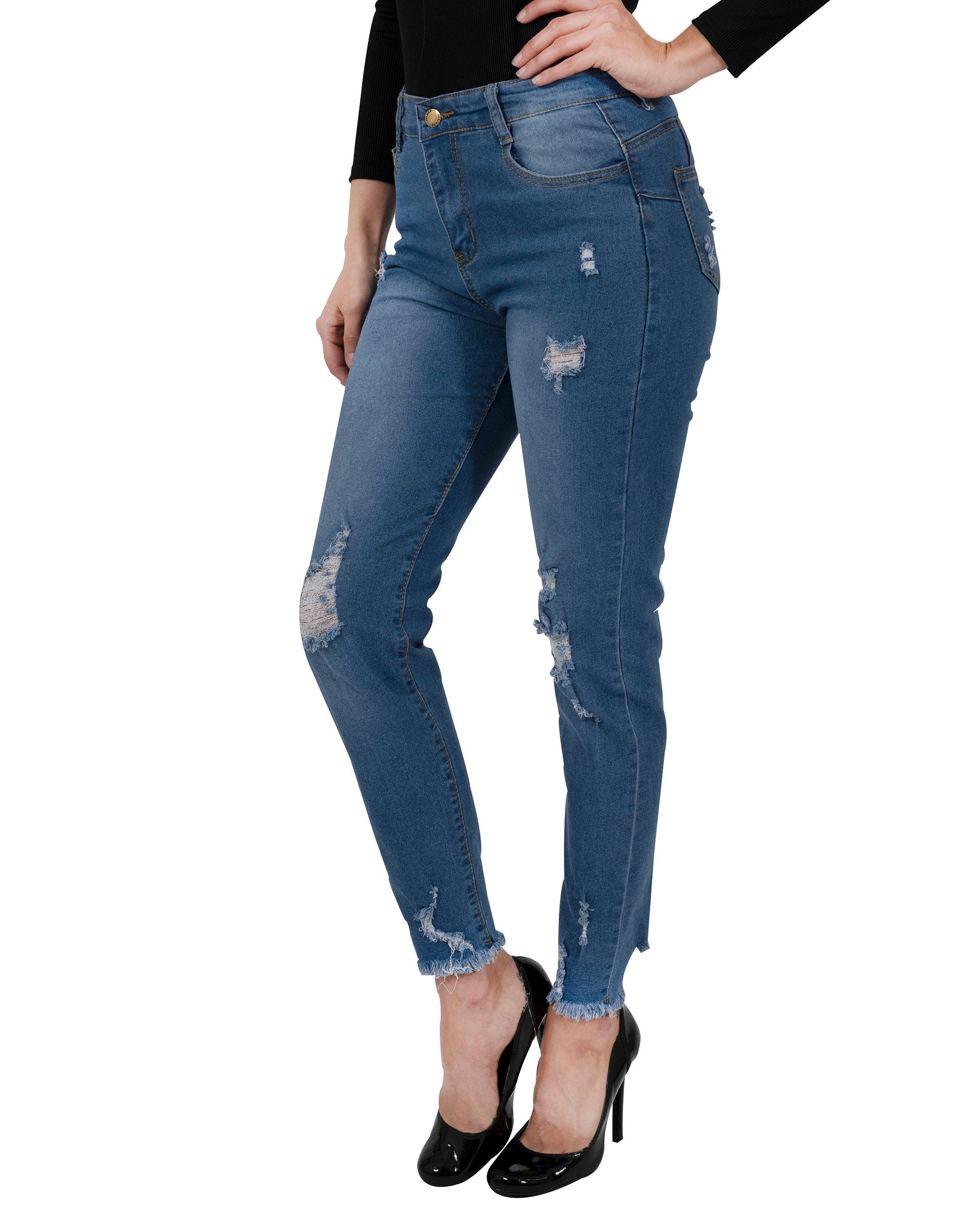 Via Rodeo High Waisted Skinny Jeans - TRINQUETZ
