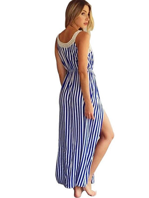 Vintage Street chic Maxi Slim Shift Swing Dress - TRINQUETZ
