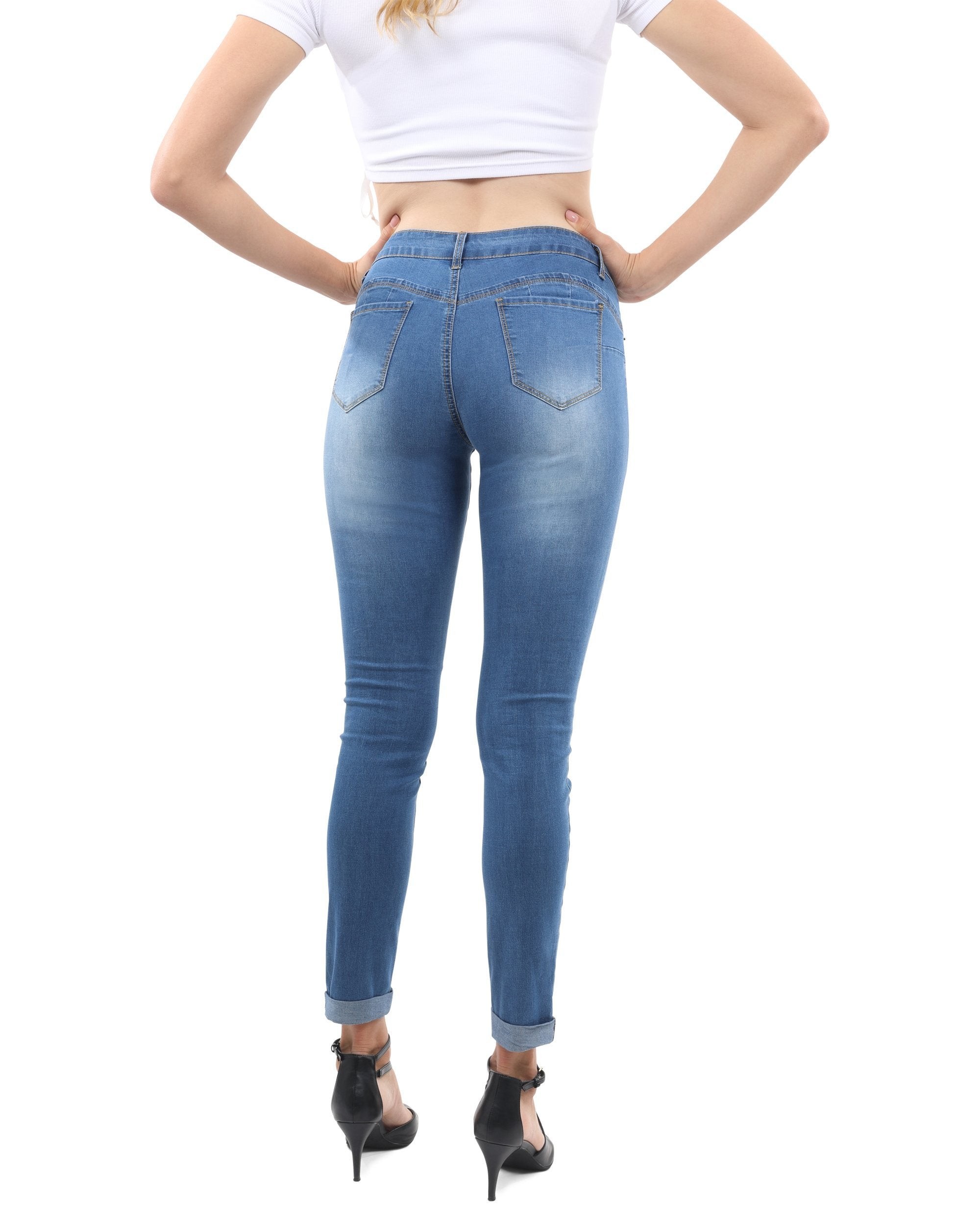 Wallace Skinny Jeans - Blue - TRINQUETZ