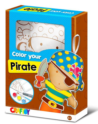 pirate colour your doll set