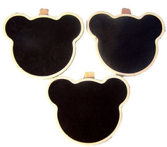Bear Shaped Wooden Blackboard Clips-Special Celebration Events