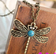 Dragonfly Gemstone Necklace with Pendant-Special Celebration Events