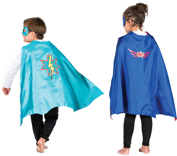 Hero Cape & Mask - Green/Turquoise