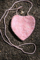 Heart Sequined Bag - Pale Pink-Special Celebration Events
