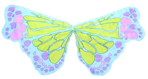 Butterfly Multi Chiffon Wings - Blue-Special Celebration Events