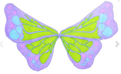 Butterfly Multi Coloured Chiffon Wings - Mauve-Special Celebration Events