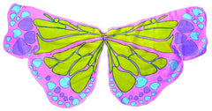 Butterfly Multi Coloured Chiffon Wings - Pink-Special Celebration Events