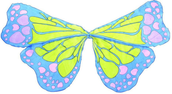Butterfly Multi Coloured Chiffon Wings - Royal Blue-Special Celebration Events