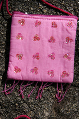 Little Bag with Sequin Details - Pink-Special Celebration Events