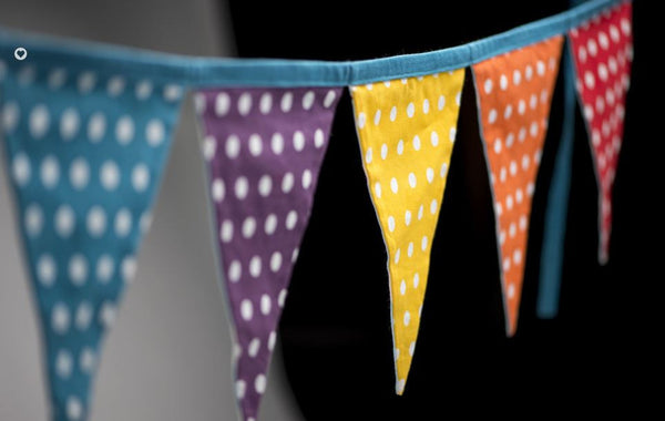 Rainbow Spot & Cloud Bunting-Special Celebration Events