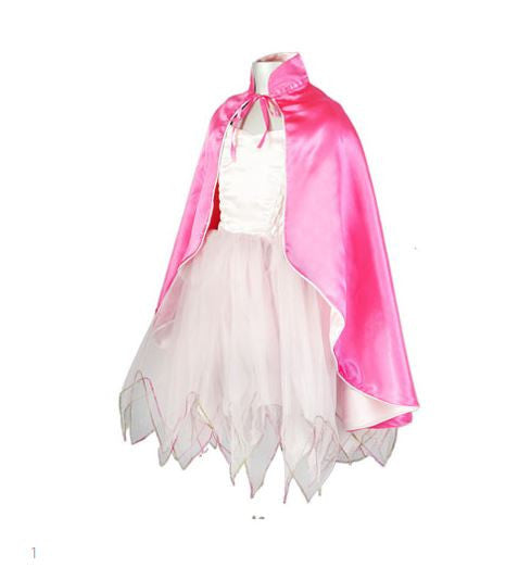 Satin Cape - Cerise/Pink-Special Celebration Events