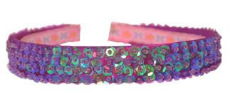 Sequined Headband - Dark Pink-Special Celebration Events