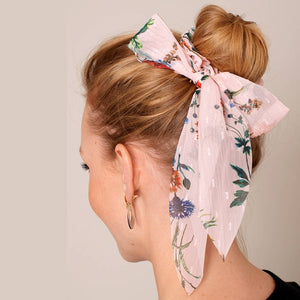 The Floral Scarf Ponytail Scrunchies