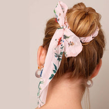 Load image into Gallery viewer, The Floral Scarf Ponytail Scrunchies